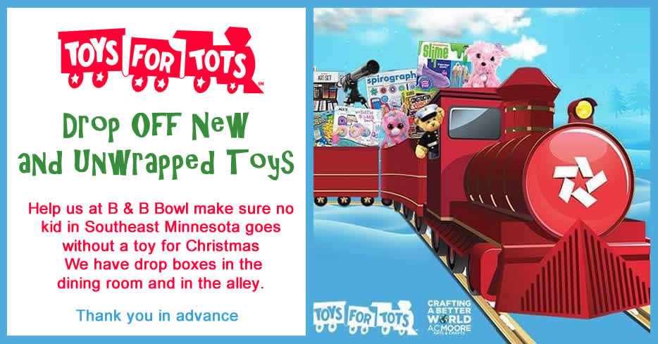 B and B Bowl and Restaurant in Preston Minnesota - Your Toys for Tots Drop Off in Fillmore County